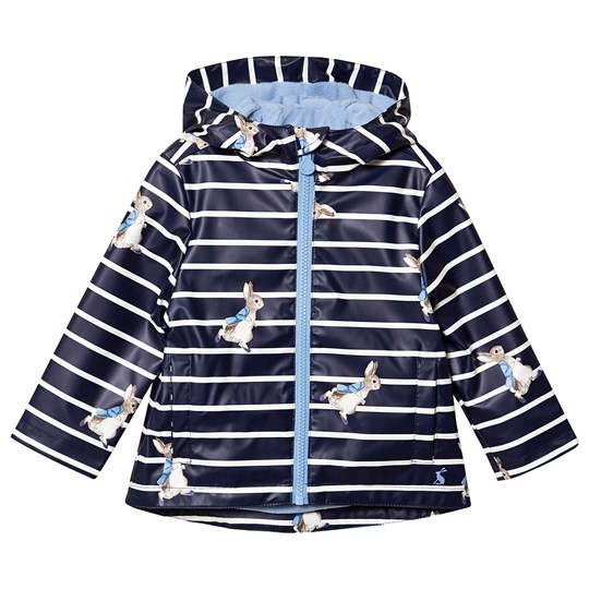 Tom Joule Skipper Rain Coat Navy Navy Stripe Peter Rabbit