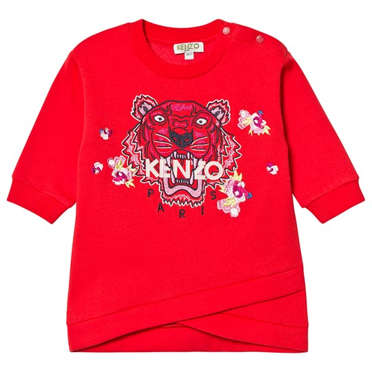 Kenzo Tiger Baby Sweat Dress Red 38