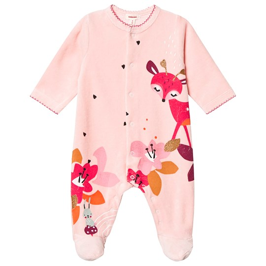 Catimini Floral Footed Baby Body Pink 31