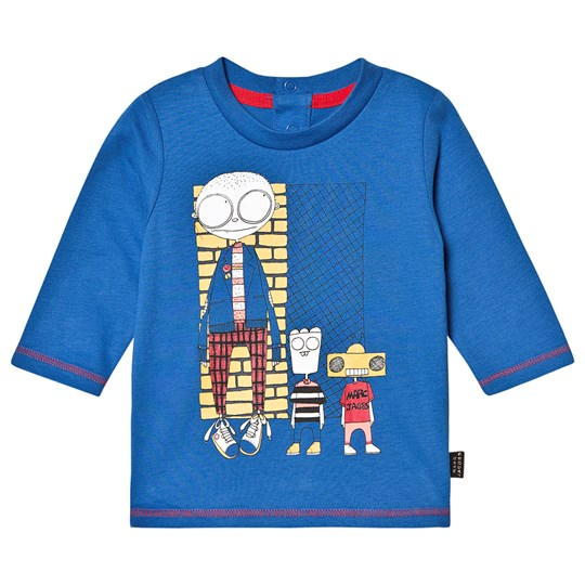 Little Marc Jacobs Robot Long Sleeve Tee Blue 81L