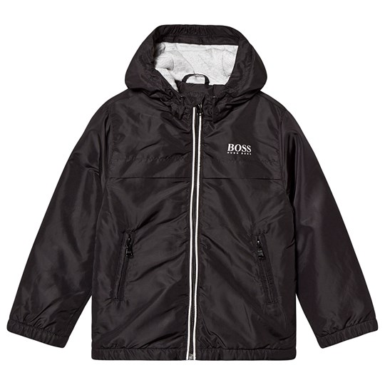 BOSS Logo Hooded Jacket Black 09B