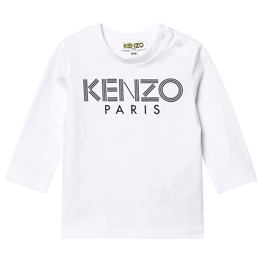 Kenzo Sport Line Long Sleeve Tee Optic White 01