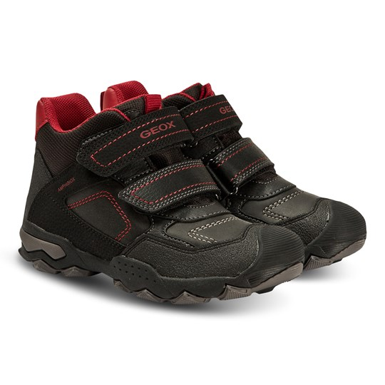 Geox Buller Shoes Black and Dark Red C0260