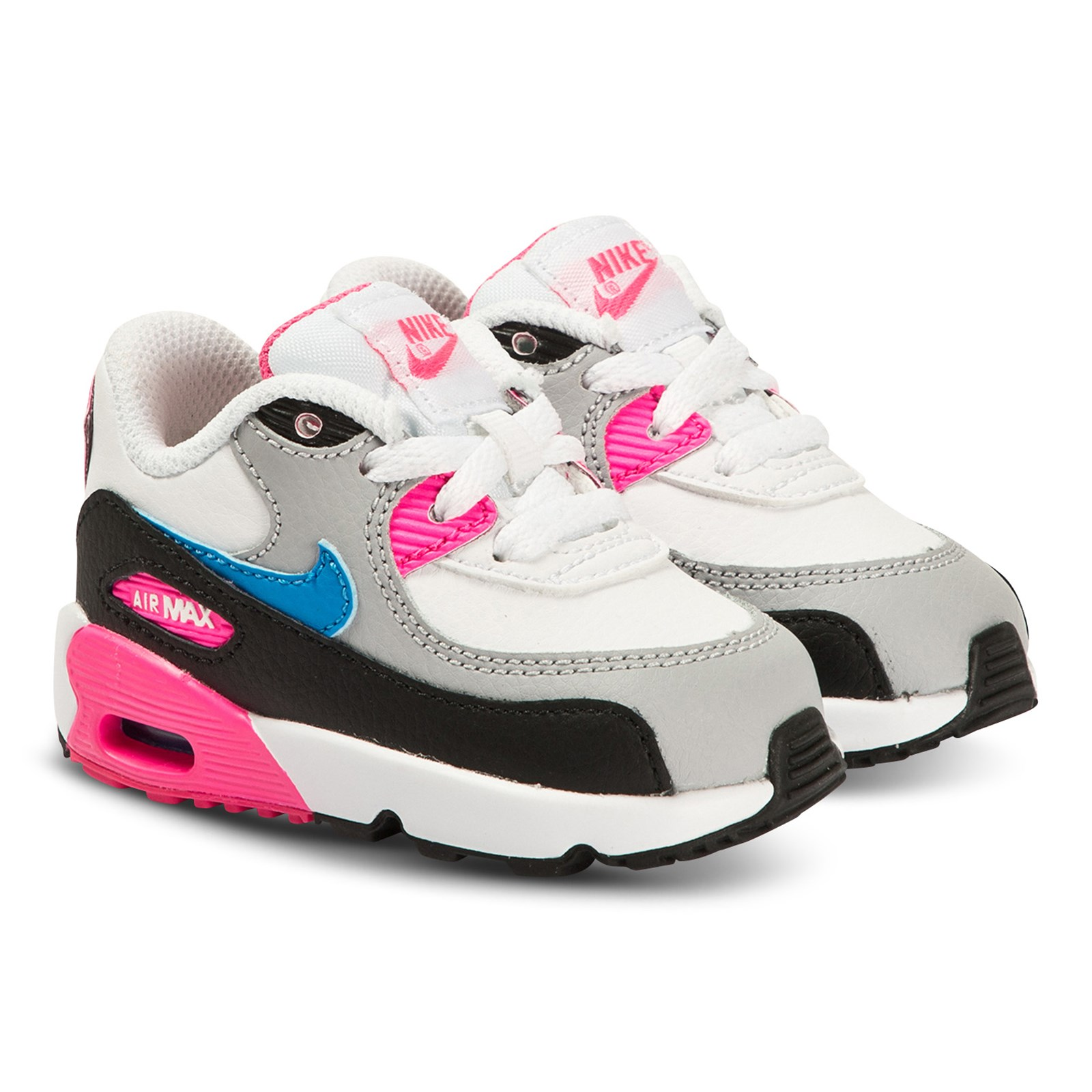 NIKE - Air Max 90 Infants Sneakers White and Photo Blue - Babyshop.com