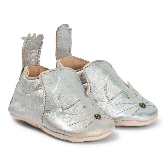 Easy Peasy Blumoo Mouse Crib Shoes Silver 081