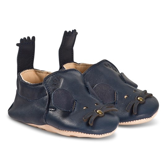 Easy Peasy Blumoo Mouse Crib Shoes Navy 018