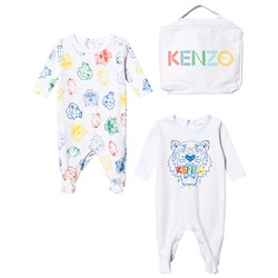 Kenzo Welcome Baby Footed Baby Body Set Optic White