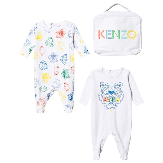 Kenzo Welcome Baby Footed Baby Body Set Optic White 48