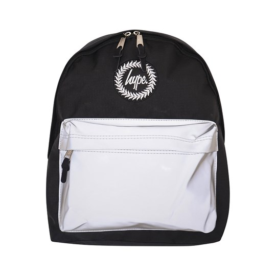 Hype Holo Pocket Backpack Black and Silver Black/Silver