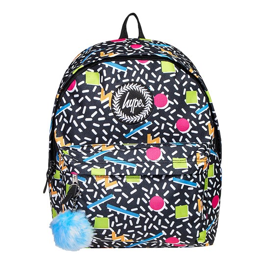 Hype Nineties Geo Backpack Black Multi