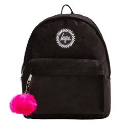 Hype Velour Backpack Black