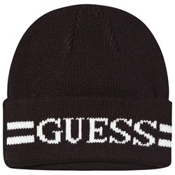 Guess Branded Knit Beanie Black