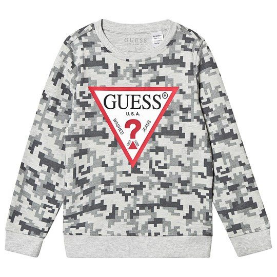 Guess Grey Pixel Camo Branded Sweashirt FP49