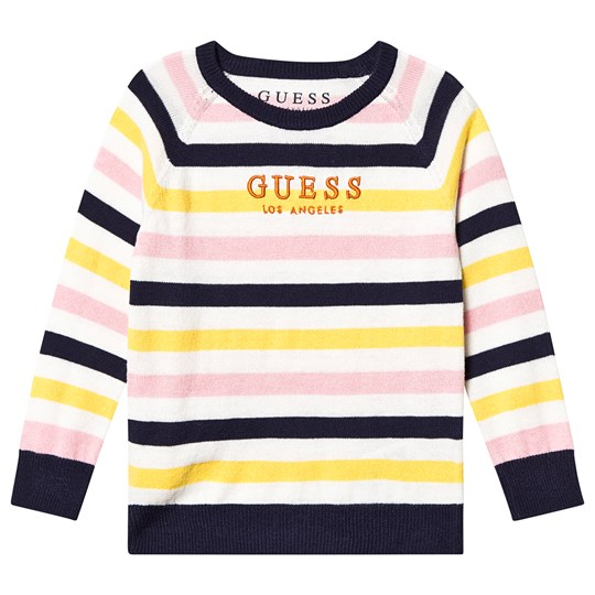 Guess Embroidered Knit Jumper Multi Stripe S142