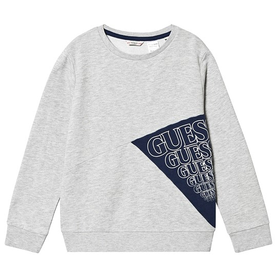 Guess Panel Branded Sweatshirt Grey and Navy LHY