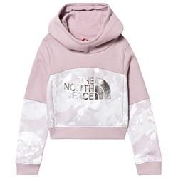 The North Face Graphic Cropped Hoodie Pink