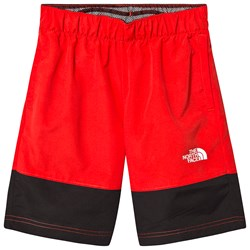 The North Face Water Reactive UPF 50 Swim Shorts Colorblock Black/Red