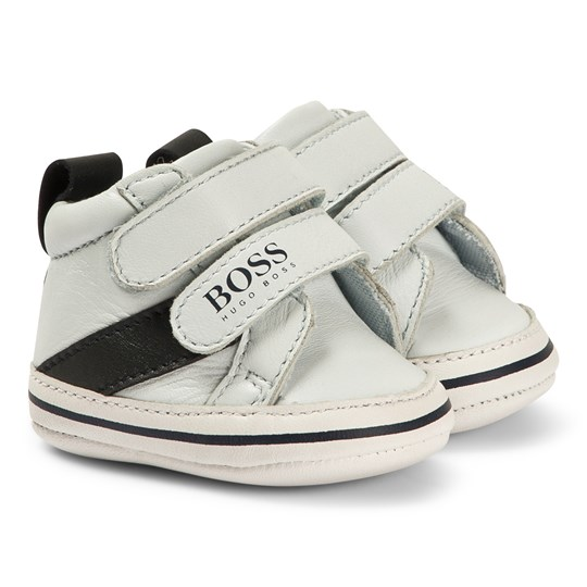 BOSS Leather Crib Shoes Pale Blue 771