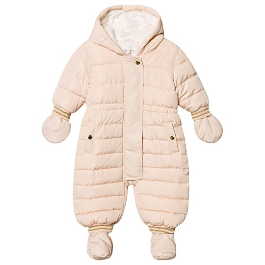 Chloé Chloe Snowsuit with Booties and Mittens Pink 44B