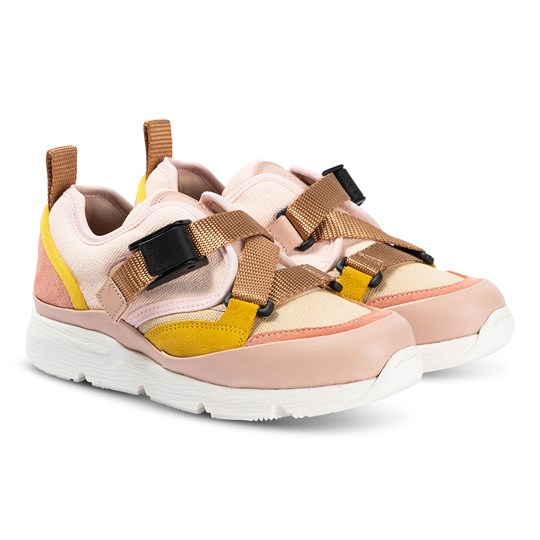 Chloé Buckle Strap Contrast Sneakers Pink 44B
