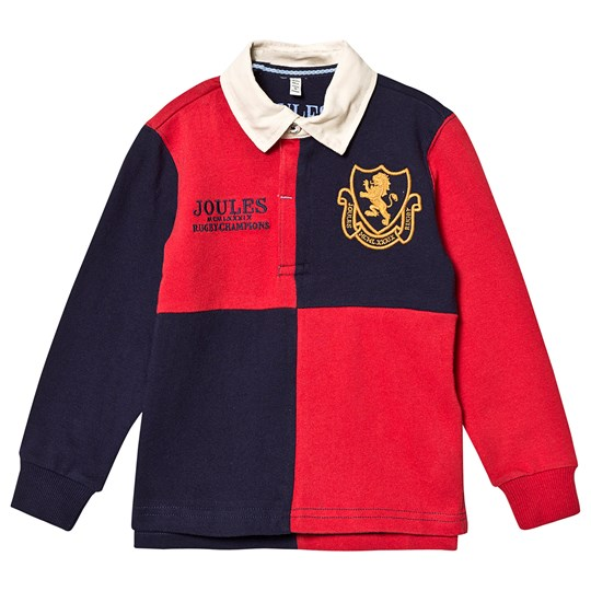 Tom Joule Try Long Sleeve Rugby Tee Navy and Red Red