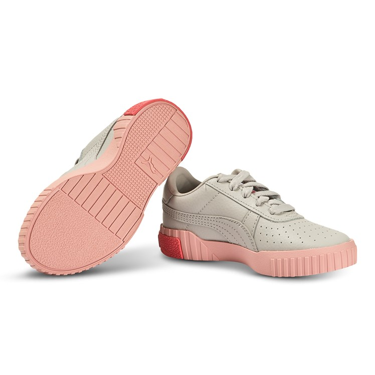 Puma Cali Sneakers Grey and Pink Babyshop.no
