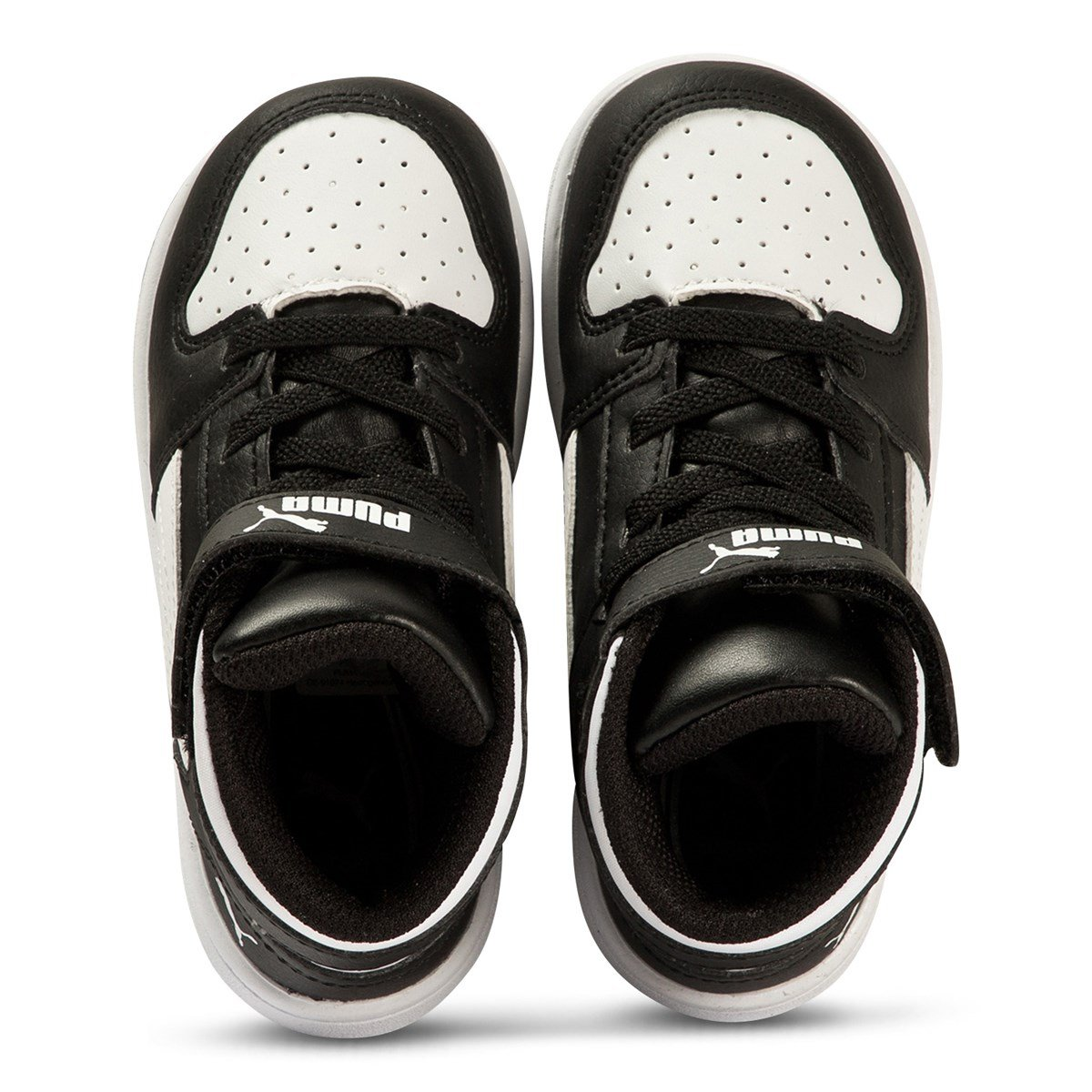 Puma Rebound Layup Infants Sneakers Black and White Babyshop.no