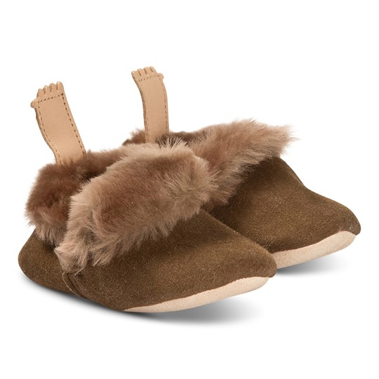 Easy Peasy Minion Shearling Crib Shoes Natural 149