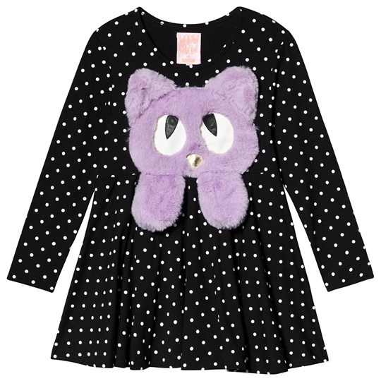 Wauw Capow Swing Dress Black/White Dots Black with white dots