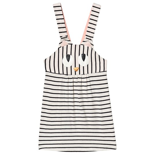 Wauw Capow Miss Meow Dress Black/White Stripes Black and White stripes