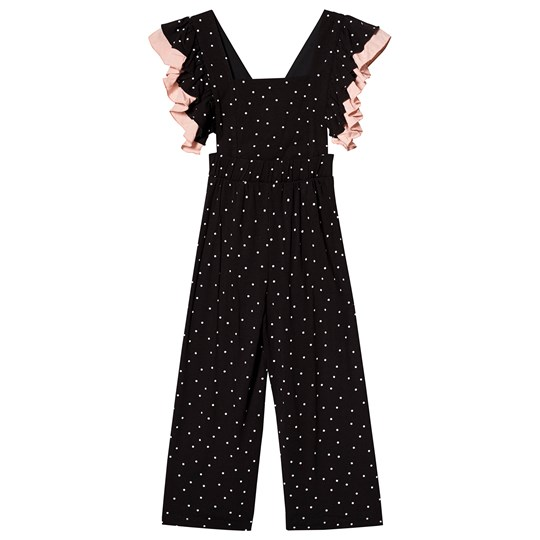 Wauw Capow Frill Pants Black/White Dots Black with white dots