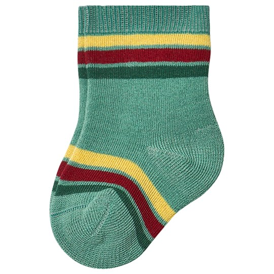 The Animals Observatory Snail Baby Socks Green Green
