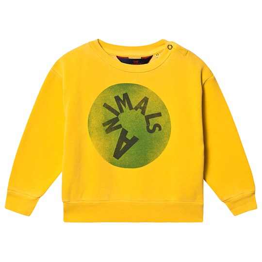 The Animals Observatory Bear Baby Sweatshirt Yellow Animals Yellow Animals