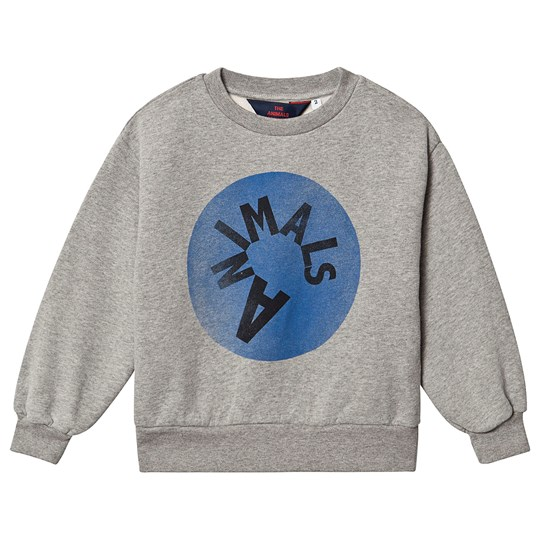 The Animals Observatory Bear Sweatshirt Grey Animals Grey Animals