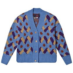 The Animals Observatory Racoon Cardigan Blue
