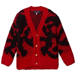 The Animals Observatory Arty Racoon Cardigan Red