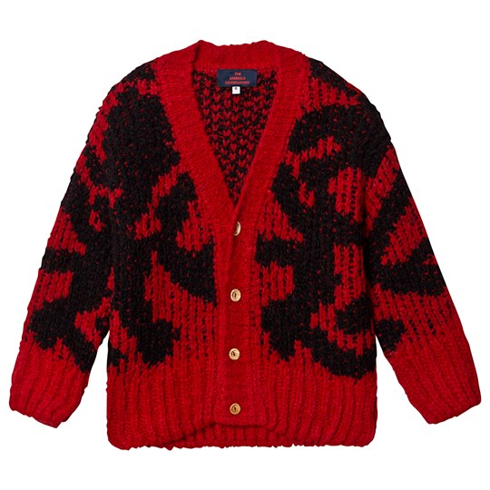 The Animals Observatory Arty Racoon Cardigan Red Red