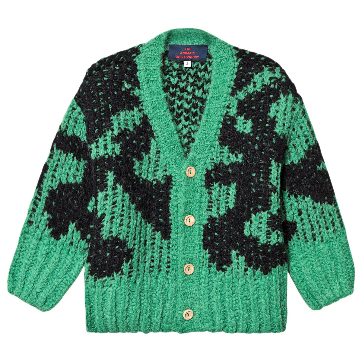 The Animals Observatory Arty Racoon Cardigan Green