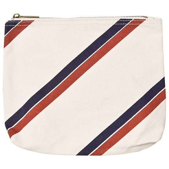 The Animals Observatory Pouch Rå Hvide Striber Raw White Stripes