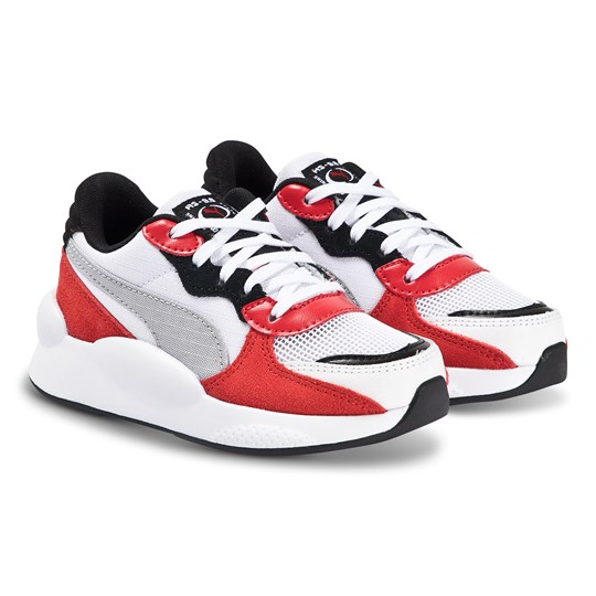 Puma 9.8 Space Sneakers White and Red PUMA WHITE-HIGH RISK RED