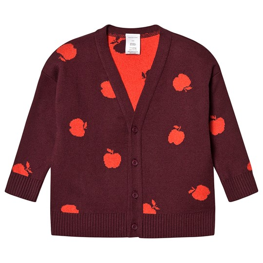 Tinycottons Apples Cardigan Aubergine/Red Aubergine/Red