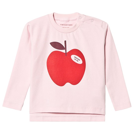 Tinycottons Apple Tee Pale Pink/Burgundy Pale Pink/Burgundy