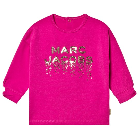 Little Marc Jacobs Pink Marc Jacobs Sequin Long Sleeve Tee 490