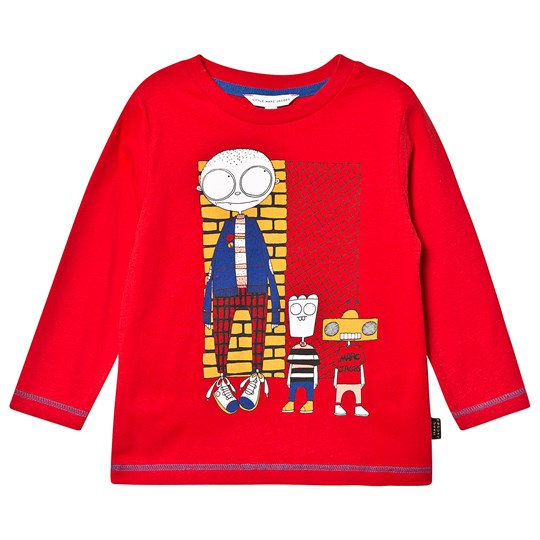 Little Marc Jacobs Robot Long Sleeve Tee Red 991