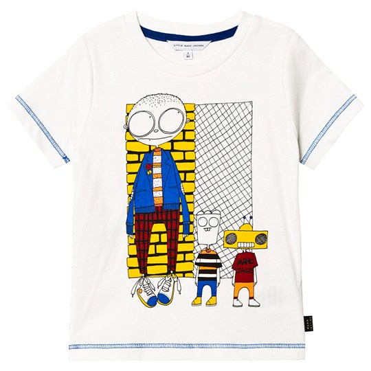 Little Marc Jacobs Robot T-Skjorte Hvit 117
