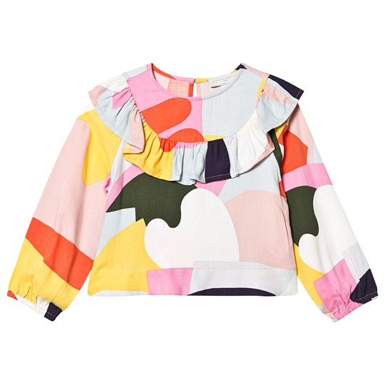Stella McCartney Kids Patchwork Frill Blouse Multicolor 8486