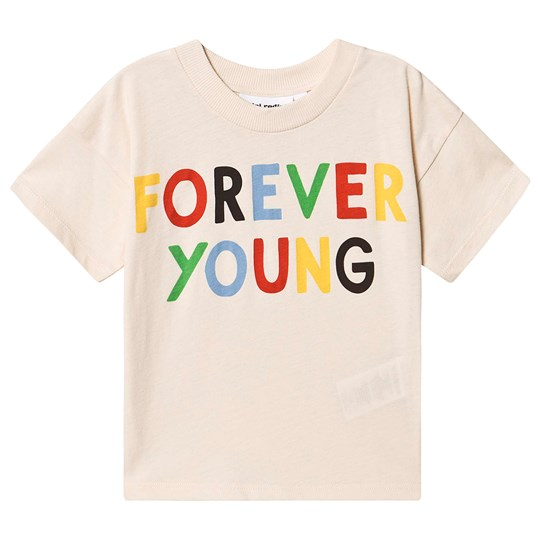 Mini Rodini Forever Young T-shirt Off White 白色