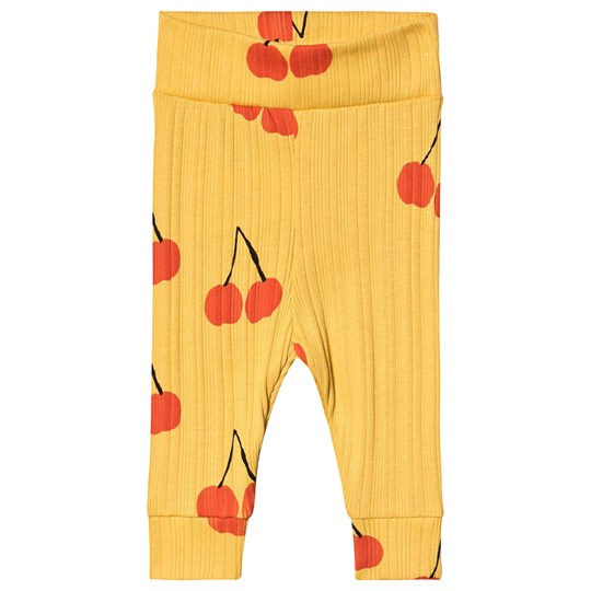 Mini Rodini Cherry Baby Leggings Yellow Yellow