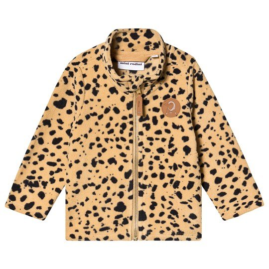 Mini Rodini Leopard Fleece Jacket Beige бежевый