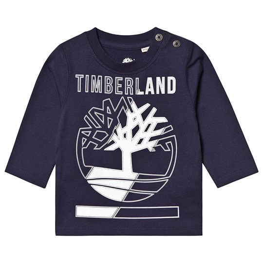 Timberland Tree Logo Long Sleeve Tee Navy 85T